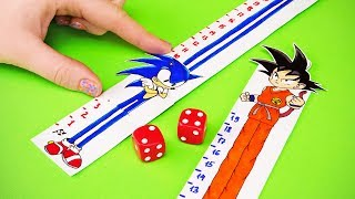 SONIC VS GOKU (Sonic The Hedgehog VS Dragon Ball) and other PAPER GAME TO PLAY WITH FAMILY