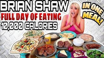 BRIAN SHAW 4X WORLDS STRONGEST MAN DAILY DIET | 10,000 CALORIES | GIRL VS FOOD | MIKI SUDO