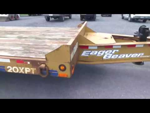 2006 Eager Beaver 20XPT 20 Ton Tow Behind Lowboy Trailer For Sale