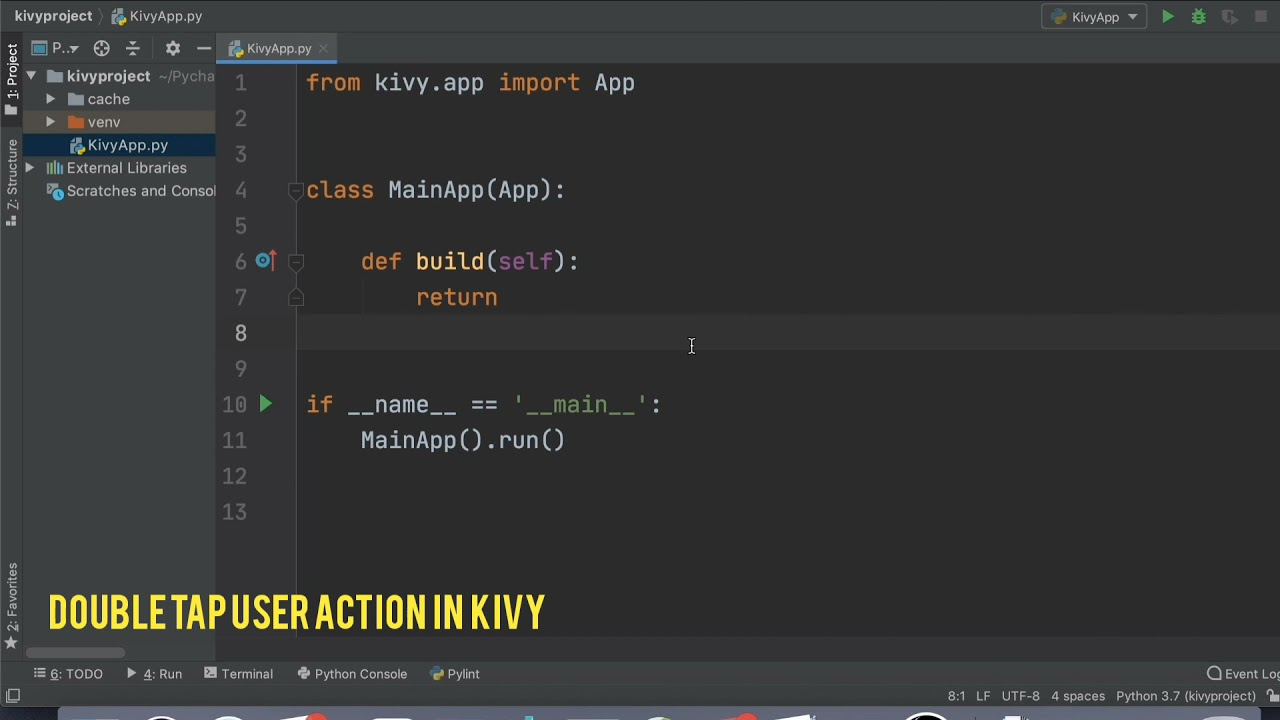 Python Kivy Double Tap User Action | Touch Down
