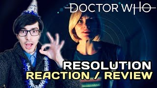 Doctor Who 12x00 Resolution REACTION & REVIEW (Doctor Who 2019 New Year Special Reaction)