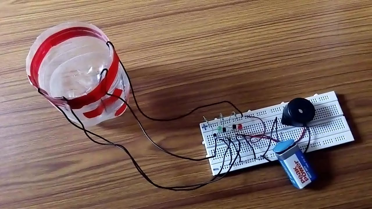 How To Make Water Level Indicator Simple Way At Home Made Alarm Using 555 Timer Circuit And Working Indicatorproject Youtube