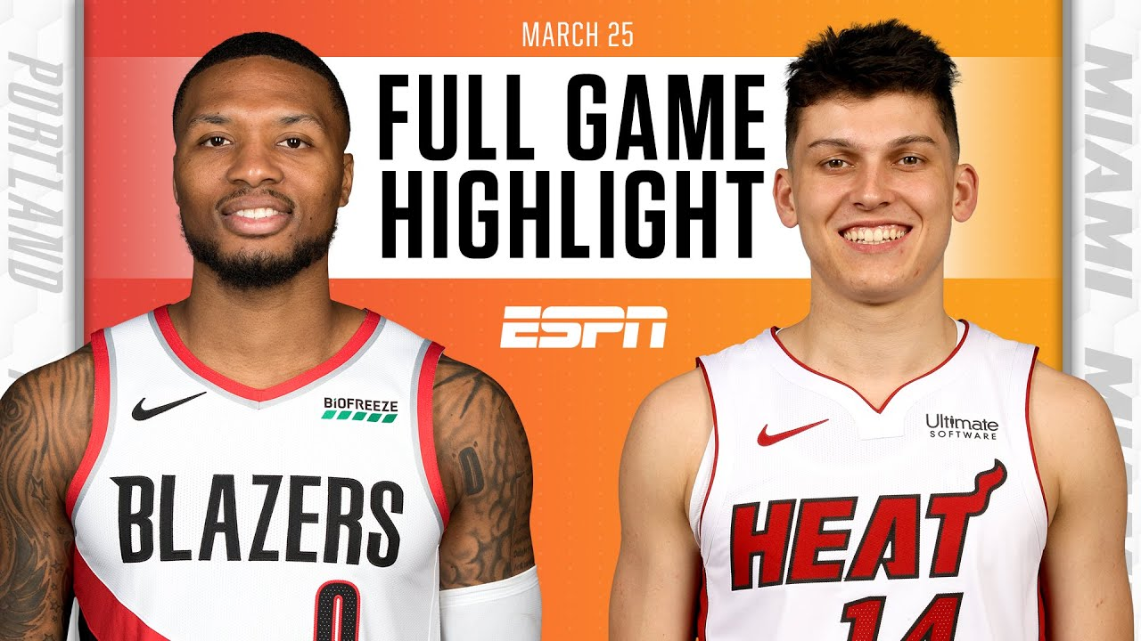 Portland Trail Blazers rally past the Miami Heat on the road [FULL GAME HIGHLIGHTS] | NBA on ESPN
