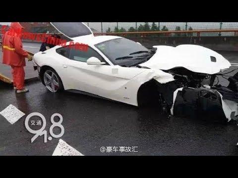 Crazy Ferrari F12 Berlinetta Crash [HD]