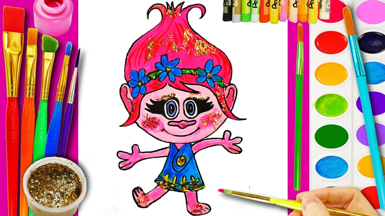 TROLLS Poppy Coloring Page for Kids to color with ...