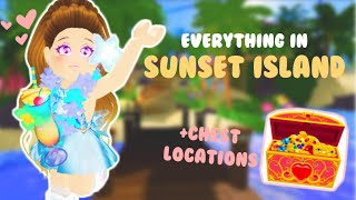 EVERYTHING YOU CAN DO IN SUNSET ISLAND! + ALL CHEST LOCATIONS // Roblox Royale High