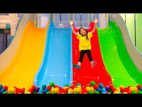 Wendy Pretend Play w/ Indoor Playground & Sings Peekaboo Song for Kids