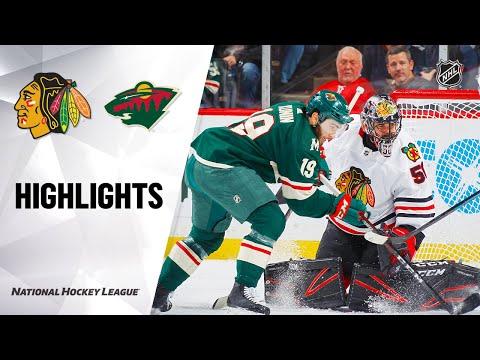 NHL Highlights | Blackhawks @ Wild 2/4/20