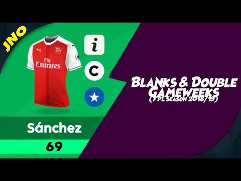 Fantasy Premier League - FPL BLANKS & DOUBLE GAMEWEEKS - FPL 2018/19 Gameweek 24