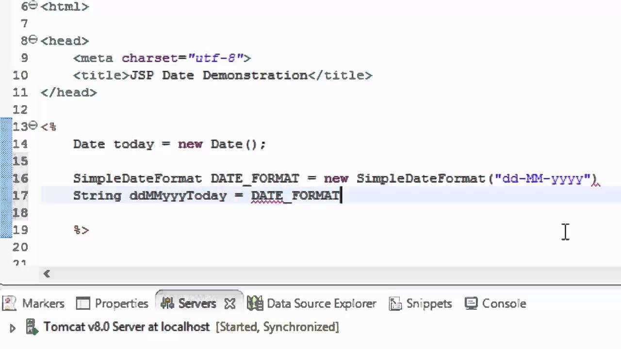 Sample program in jsp.