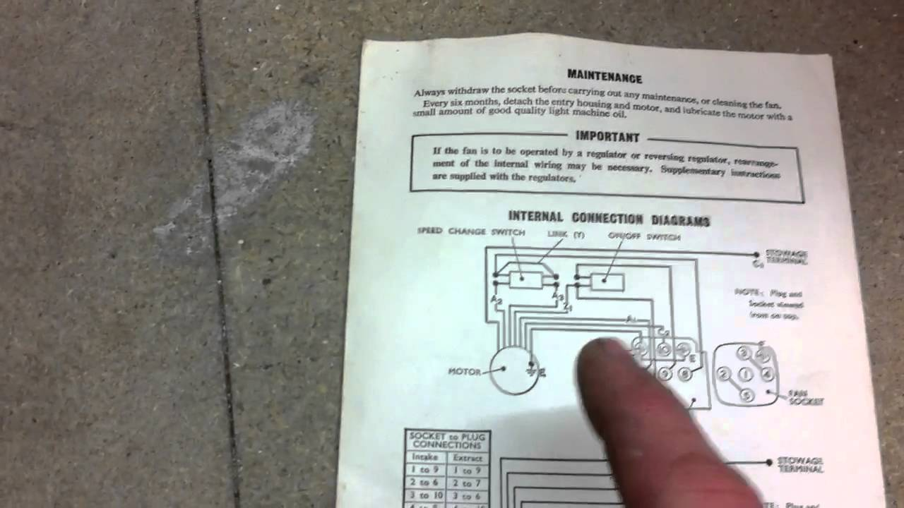 Xpelair Wiring Instructions