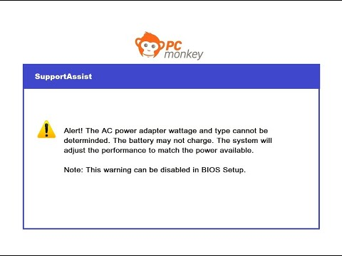 How To Fix A Power Adapter Warning - Battery May Not Charge - Dell Laptop Computer