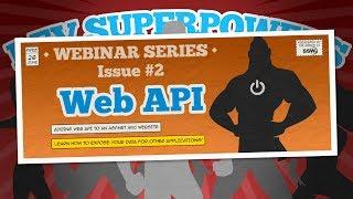 Adding Web API to your ASP .NET website | Dev SuperPowers Episode #2 | David Burela