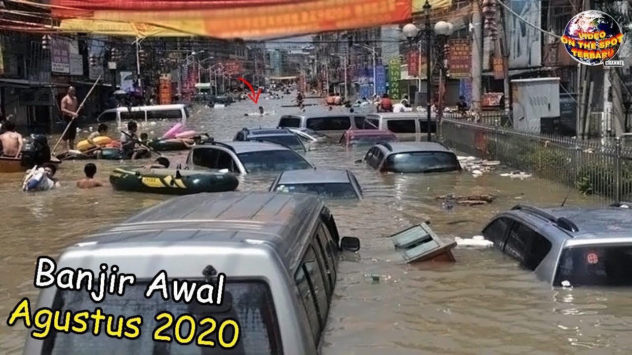 Alam Kembali Murka, Banjir Dahsyat Hanyutkan Apapun yang Dilewati // Peristiwa² Air Meluap 2020