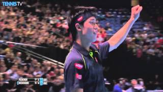 Nishikori Makes Backhand Hot Shot