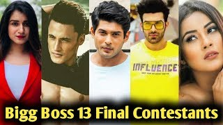 Bigg Boss 13 : Final List Of 13 Contestants Of This Season
