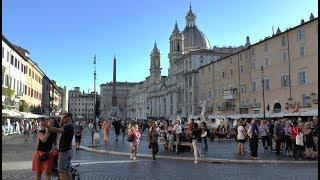 Walk around Piazza Navona Rome Italy