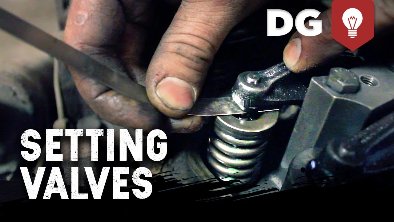 Rear Of Volvo Penta 5 7 Engine Diagram How To Set Valve Lash On A Diesel Engine Youtube