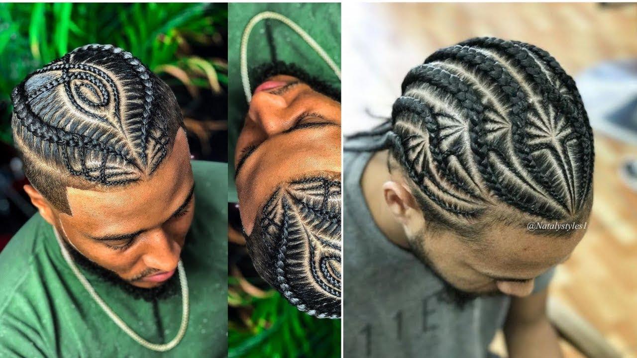 Best Most Popular Male Braids Hairstyles Man Bun Compilation