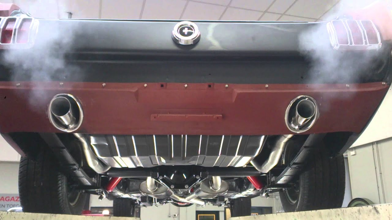 EPS exhaust '65 Mustang 6 cyl. - YouTube