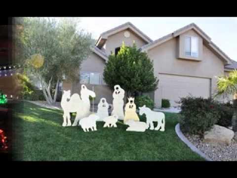 DIY christmas lawn decorations