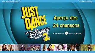 [Wii U] JeGeekJePLAY Just Dance Disney Party 2 - Preview des 25 chansons