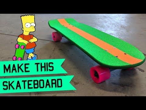 How to make the Bart Simpson skateboard - DIY skateboard