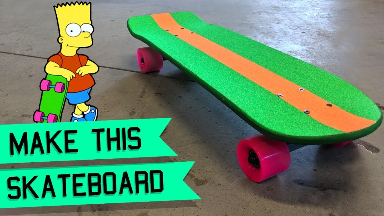 How To Make The Bart Simpson Skateboard Diy Skateboard Youtube