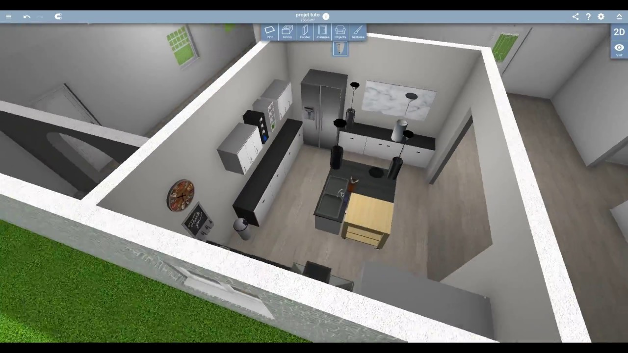 Home Design 3D Speed Design  Kitchen  YouTube