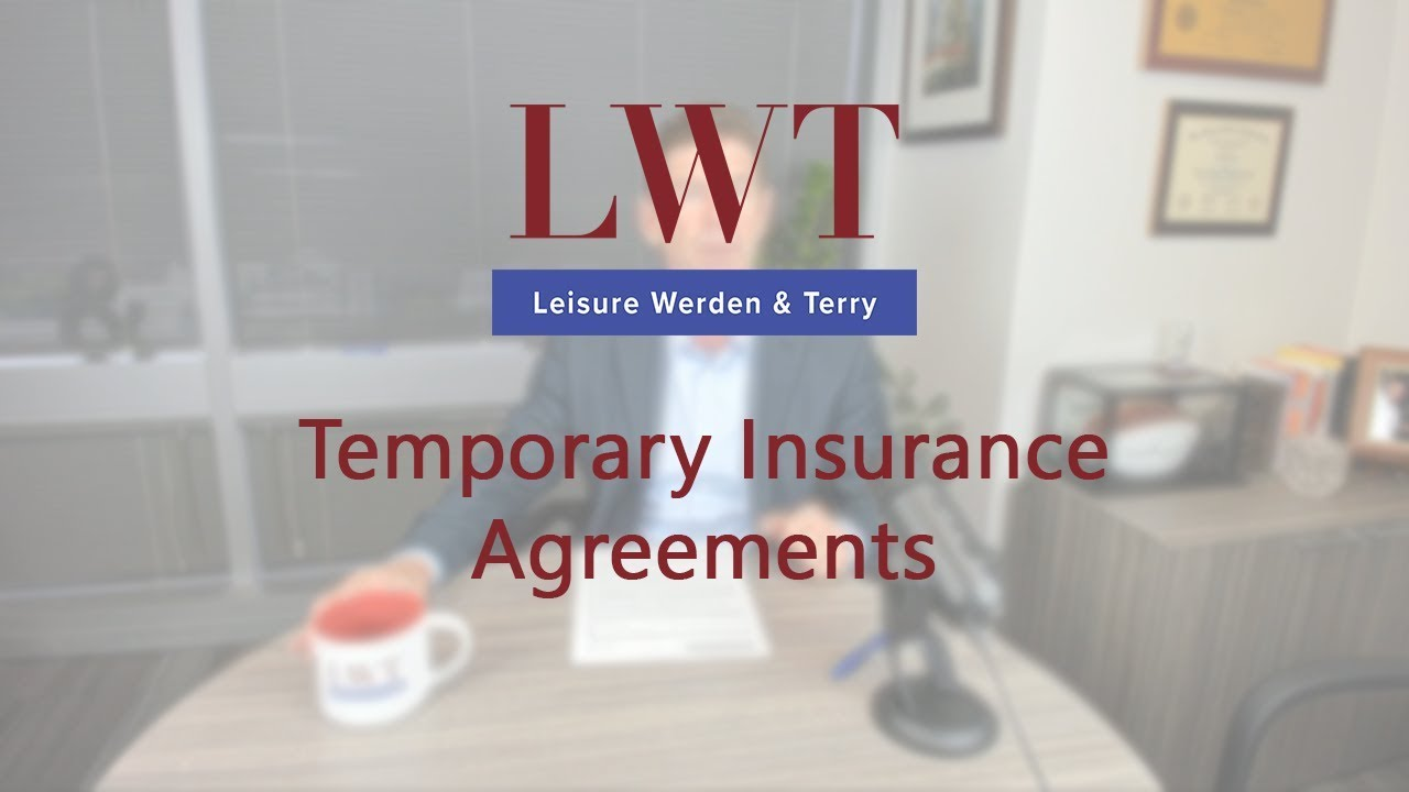 Temporary Insurance Agreements Youtube