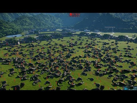 STARVING TO DEATH 500 HERBIVORES - Jurassic World Evolution