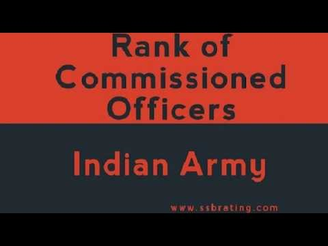 ranks of officers in Indian army