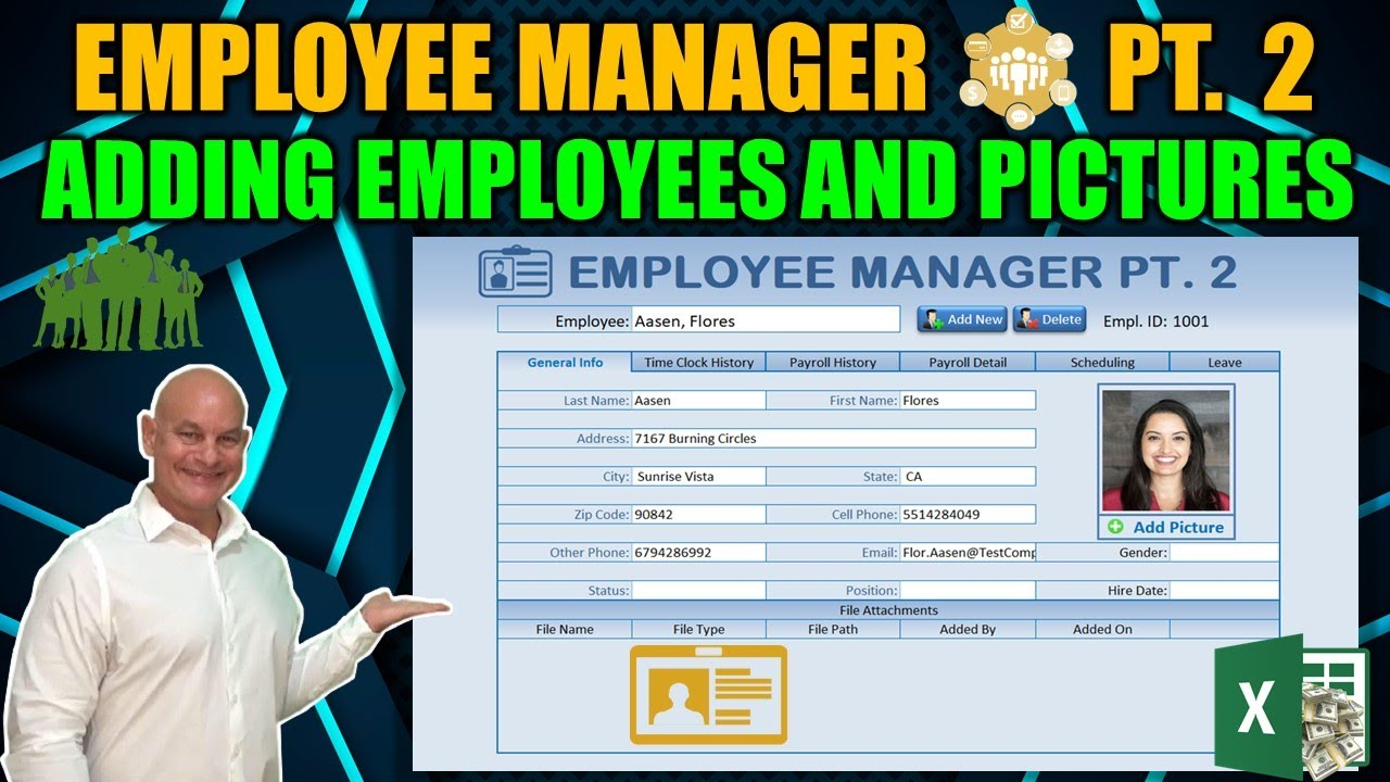 Learn How To Load Employees & Pictures with this Excel Employee Manager  [Part 2]