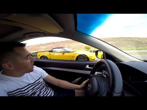 Смогу ли обогнать  Corvette  6.2  ???   Да  ,  подумал я  ...