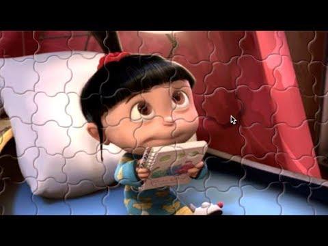 MEU MALVADO FAVORITO AGNES Minions Quebra cabeça Brinquedos para crianças Jigsaw Puzzle for kids