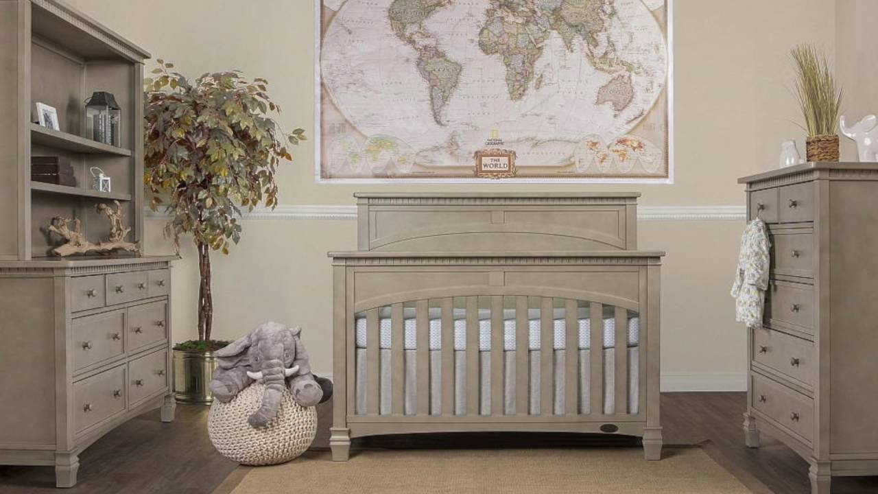 Evolur Santa Fe Convertible Crib Collection In Storm Grey