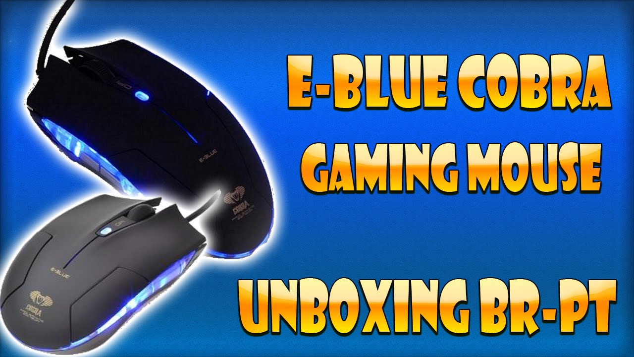E Blue Cobra Gaming Mouse Unboxing Br Pt Youtube Mousepad Type M