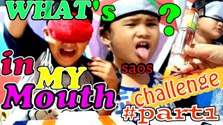 Whats in my Mouth Challenge  Akbar dan Alicia PART1