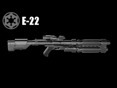star wars e 22 blaster rifle sound effect youtube. Black Bedroom Furniture Sets. Home Design Ideas