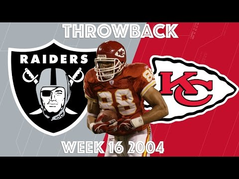 Raiders vs. Chiefs 2004 Highlights  Tony Gonzalez's Christmas   NFL Classic Highlights