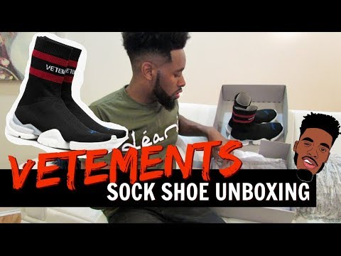 bueno bien baratas calzado Vetements x Reebok sock runner - YouTube