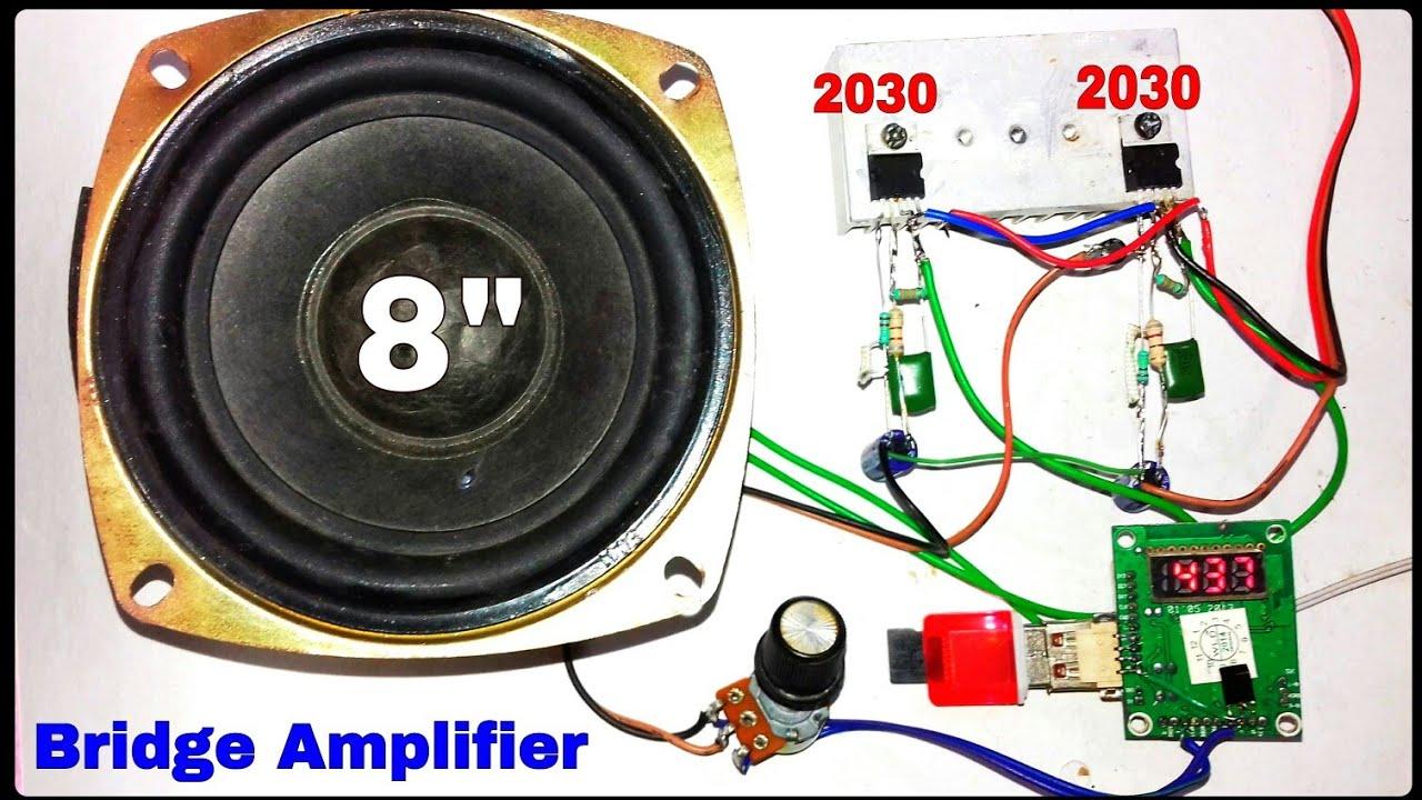 tda2030 bridge amplifier powerful sound and bass (you like electronic) tda2030 bridge amplifier pcb layout tda amplifier circuits