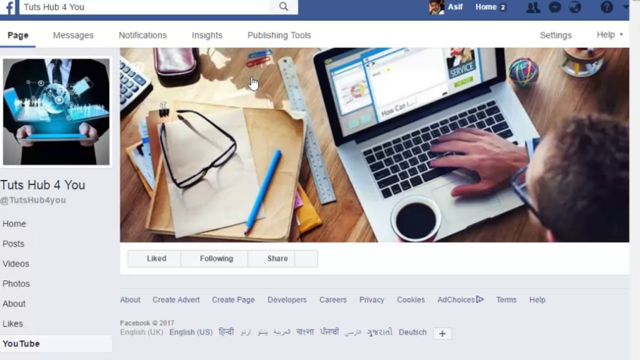how to add youtube link to facebook page