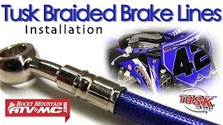 Tusk Motorcycle & ATV Braided Brake Lines - Install & Overview