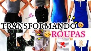 CUSTOMIZAÇÃO de roupas – TRANSFORMANDO roupas VELHAS em NOVAS