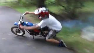 Andrew's crash, first time on dirt bike