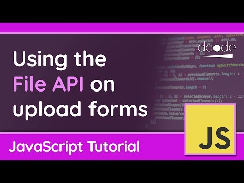 Using the File API on Upload Forms - JavaScript Tutorial thumbnail