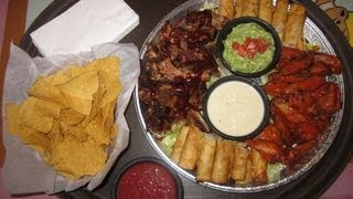 Chihuahua's Party Platter Challenge W/ Riblets, Wings, Taquitos, & Chips!!
