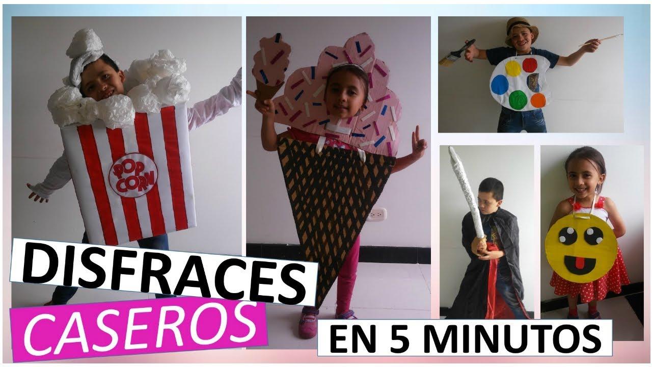 5 Disfraces Para Halloween Caseros Para Niños Diytubers Halloween Challenge Youtube