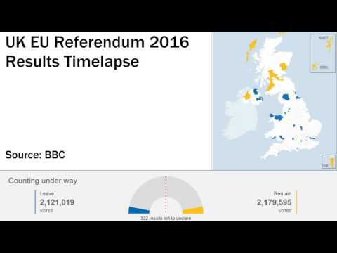 UK EU Referendum Results Map Timelapse (BBC)